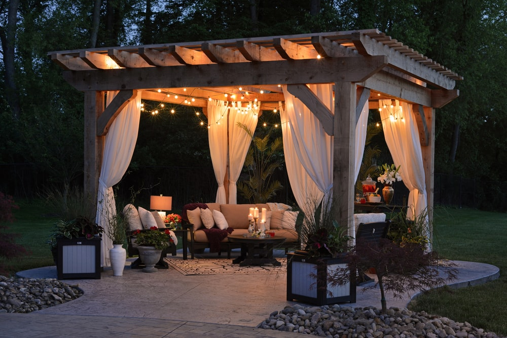 night garden canopy and veranda